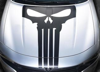 2015 2016 2017 Dodge Charger Hood Blackout Punisher Skull Decal Stripe