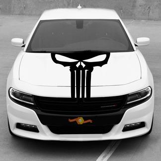 Dodge Charger Hood Blackout Punisher Skull Decal Stripe 2015-2020