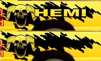 HEMI Dodge Ram Splash Grunge Skull Logo Vinyl Sticker Decal Graphic