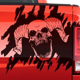 Dodge Ram Skull Splash Grunge Vinyl Decal Tailgate Truck Vehicle Graphic Pickup