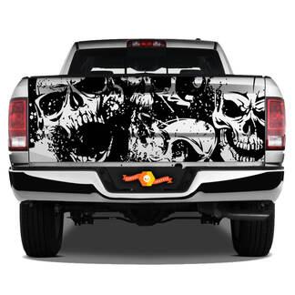 Dodge Ram Schädel Splash Grunge Vinyl Aufkleber Heckklappe LKW Fahrzeug Grafik Pickup