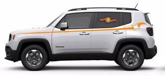 Jeep Renegade Pinstripe Graphic Vinyl Decal Sticker Side Camo Stripe