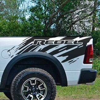 Dodge Ram Rebel Splash Grunge Logo Truck Vinyl Decal bed Graphic Cast