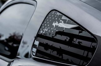 Battered 1/4 Window Flags Vinyl Decal
