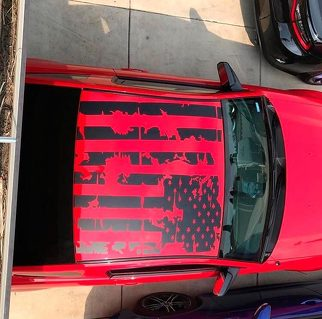 Tattered Roof Flag Vinyl Decal