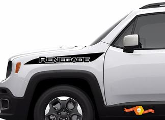 Jeep Renegade Hood Stripe Logo Graphic Vinyl Decal Sticker Side Camo