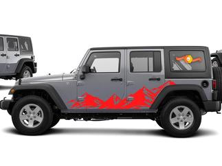 JEEP Wrangler Mountain Range Body Side Graphics Kit 2007-2017