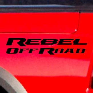 Dodge Ram Rebel Logo Side Flare Truck Vinyl Decal Graphic Off Road Bed Pickup