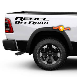 Dodge Ram Rebel Solid Logo Side Flare Truck Vinyl Decal Graphic Off Road Bed Pickup