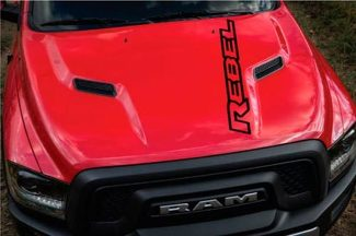 Dodge Ram Rebel Logo Side Flare Truck Vinyl Decal Graphic Camo Chrome