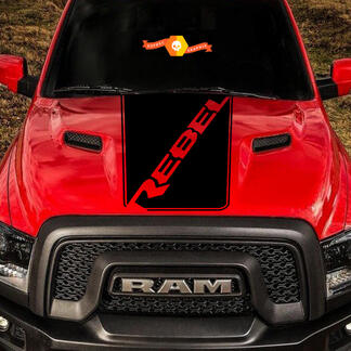 Dodge Ram Rebel Hood Logo Truck Vinyl Decal Graphic