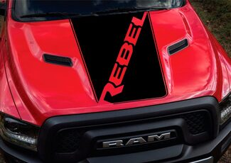 Dodge Ram Rebel Hood Logo Truck Vinyl Decal Graphic Chrome