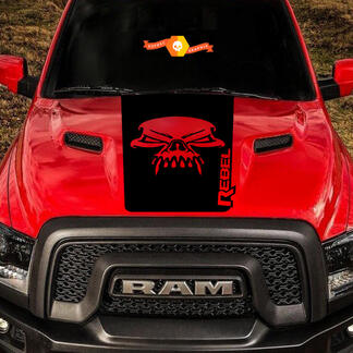 Dodge Ram Skull Rebel Hood Logo Truck Vinyl Decal Graphic Pickup SUV