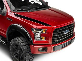 Ford F-150 Black Hood Accent Decals any colors