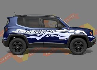 Jeep Renegade Technical Grunge Stripe Sticker Graphic Vinyl Decal Sticker Side