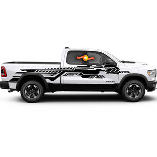Technical Grunge Modern Dodge Ram Rebel Graphic Stripe Decal Car Truck Vehicle