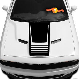 2008-2017 Dodge Challenger Cuda Strobe Hood Kit