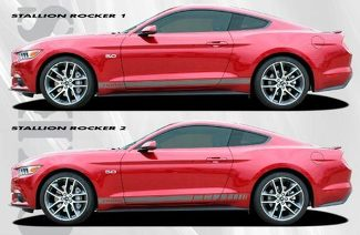 2015-2017 Ford Mustang Stallion Rocker Stripe Vinyl Graphic Kit