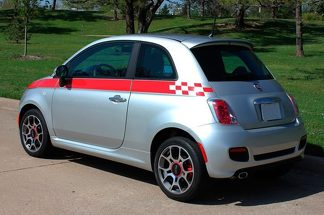 Graphics Racing Line Sticker Car Side Stripe Decal For Fiat Abarth Aufkleber