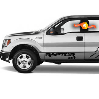 FORD RAPTOR F-150 SVT DOOR PAIR DECALS STICKERS VINYL GRAPHICS FITS 2017-2018