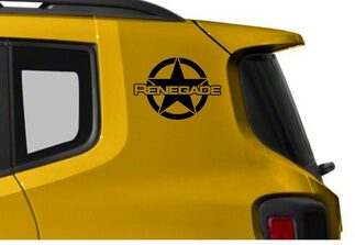 2pcs Vinyl Door Decal Sticker Side Graphic for JEEP RENEGADE Set s8