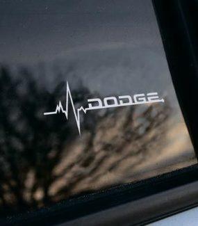 Dodge ist in meiner Blutfenster-Aufkleber-Abziehbildgrafik