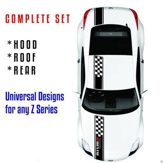Whole Stripes Fits NISSAN 350Z 370Z Hood, Roof and Rear 2006-2017 any Z series