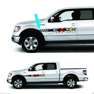 4x4 Fx4 Truck Bed Decals, for Ford F-150 and Super Duty