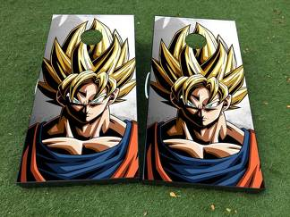 Dragon Ball 2 Cornhole Board Game Decal VINYL WRAPS with LAMINATED