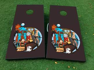Rick and Morty 1 Cornhole Board Game Decal VINYL WRAPS with LAMINATED