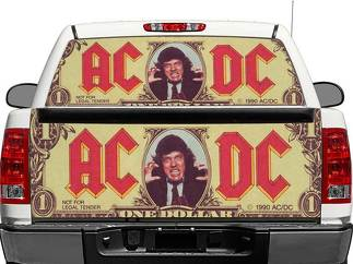 ACDC Dollars Rear Window OR tailgate Decal Sticker Pick-up Truck SUV Car