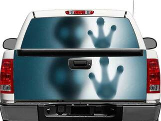 Alien Hand Rear Window OR tailgate Decal Sticker Pick-up Truck SUV Car