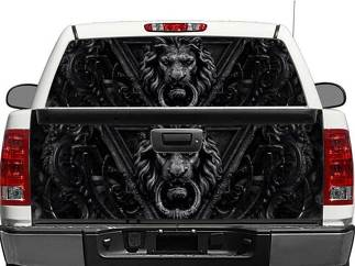Black Lion Door Rear Window OR tailgate Decal Sticker Pick-up Truck SUV Car