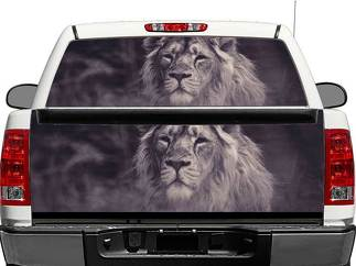 BW Lion King Rear Window OR tailgate Decal Sticker Pick-up Truck SUV Car
