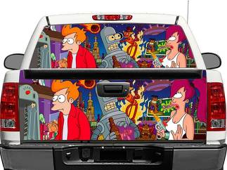 Futurama Rear Window OR tailgate Decal Sticker Pick-up Truck SUV Car