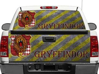 Gryffindor Harry Potter House Rear Window OR tailgate Decal Sticker Pick-up Truck SUV Car
