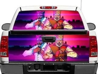 Hotline Miami X Tekken Heckscheibe ODER Heckklappe Aufkleber Aufkleber Pick-up Truck SUV Auto