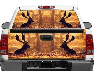 Moose in Autumn Rear Window OR tailgate Decal Sticker Pick-up Truck SUV Car