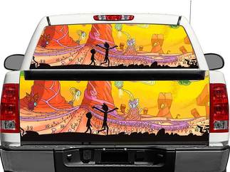 Rick and Morty Rear Window OR tailgate Decal Sticker Pick-up Truck SUV Car