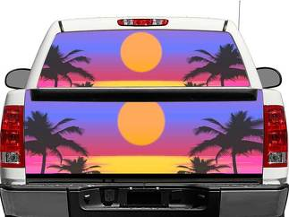 Sunset Art Rear Window OR tailgate Decal Sticker Pick-up Truck SUV Car