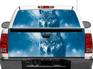 Wolf Winter Rear Window OR tailgate Decal Sticker Pick-up Truck SUV Car
