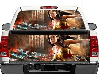 Wonder Woman Rear Window OR tailgate Decal Sticker Pick-up Truck SUV Car