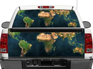 Worldwide Map Rear Window OR tailgate Decal Sticker Pick-up Truck SUV Car