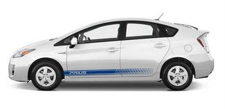 Toyota Prius lower panel door stripes vinyl graphics and decals kits 2013 2017 - Prius Stripes