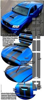 2005-2011 Toyota Tacoma Rally Stripes Graphics Kit 1