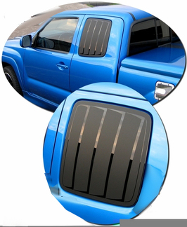 2005-2011 Toyota Tacoma Simulated Window Louvers Decal Kit 1