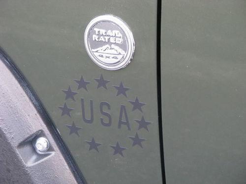 2 Jeep USA Stars Army Logo CJ TJ YK JK XJ Vinyl Aufkleber Aufkleber