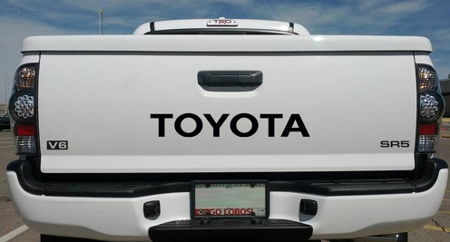 Set of 3x Toyota SR5 V6 Development TRD Motorsport Tailgate Truck Pickup Banner Strip Car Windshield Vinyl Sticker Decal Tundra Tacoma