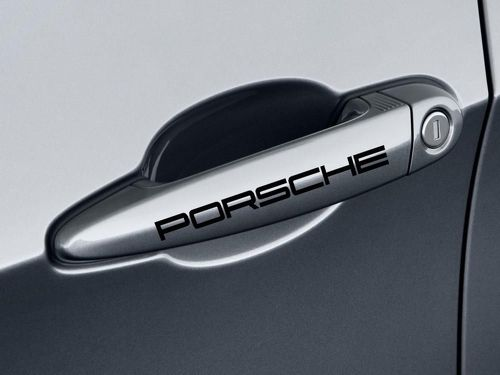 4 Porsche Door Handle for Cayenne Panamera Boxter 911 Emblems Decals Stickers