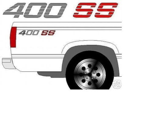 400 SS CHEVROLET CHEVY TRUCK BEDSIDE DECALS
